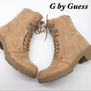 G by Guess Tan Combat Boots 10
